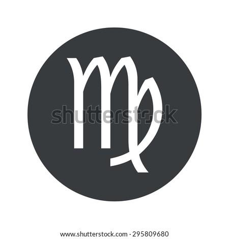 Image of Virgo zodiac symbol in black circle, isolated on white - stock photo