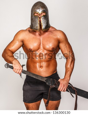 Image of warrior with sword