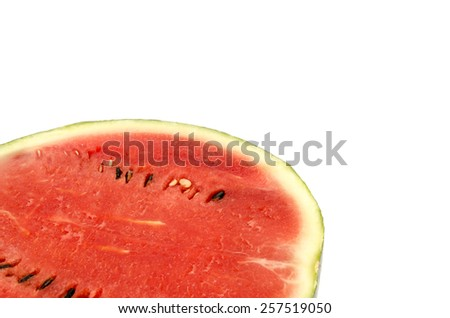 Image of water melon on white background