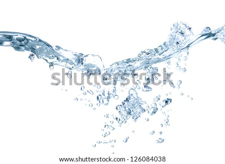 Image of water splash isolated on white - stock photo