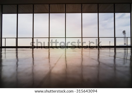 image of windows in mordern office building  - stock photo