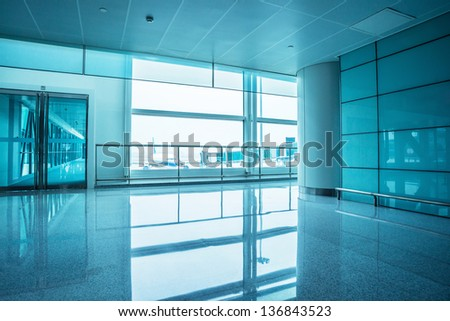 image of windows in office building