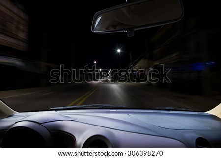 Image of windshield on the road ,way and highway.