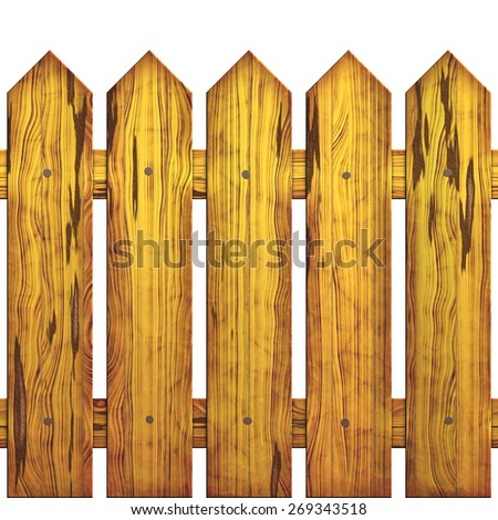 Image of wooden protection which is made of qualitative pine tree - stock photo