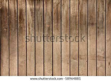 Image of Wooden Wall - stock photo