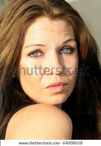 Image of young beautiful caucasian with blue eyes