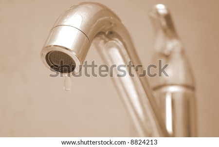 image shows problem with water-supply - stock photo