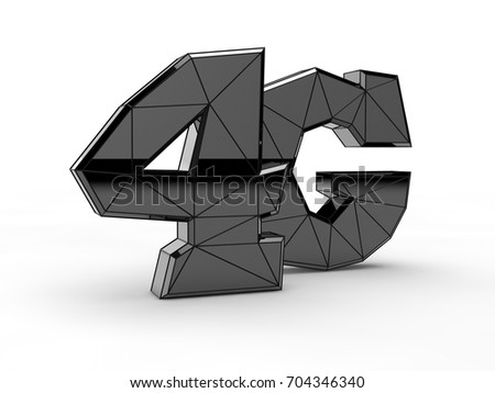 Image Text 4 G Symbol Highspeed Mobile Stock Illustration 704346340