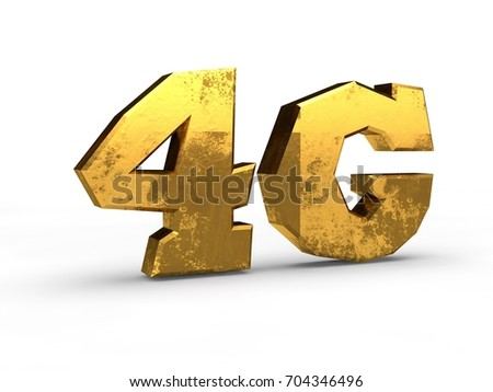 Image Text Symbol 4 G Highspeed Mobile Stock Illustration 704346496