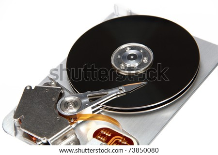 Image the hard drive, isolated on a white background
