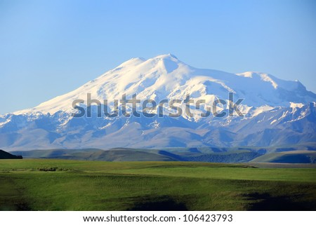 Image with highest top of Europe Elbrus
