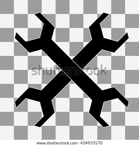image Wrench icon on transparency background - stock photo