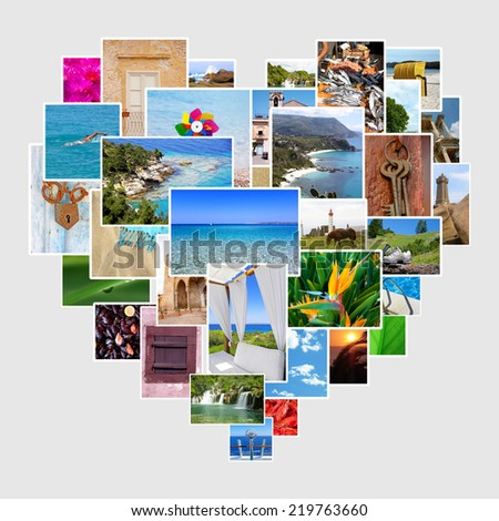 Images as a heart shape - stock photo