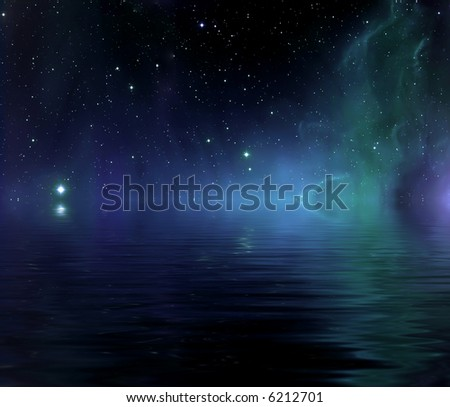 Images depicting the immense universe and the beautiful grandeur of deep space - stock photo