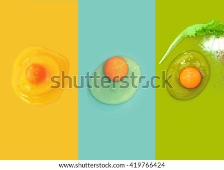 images of egg yolk - stock photo