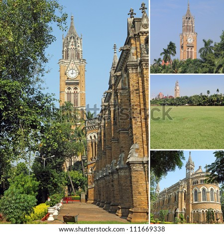 images of Mumbai University as backdrop, India, Asia - stock photo