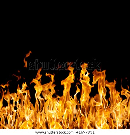 Images of the fire on a black background