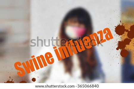 Images of the H1N1 Influenza Virus - stock photo