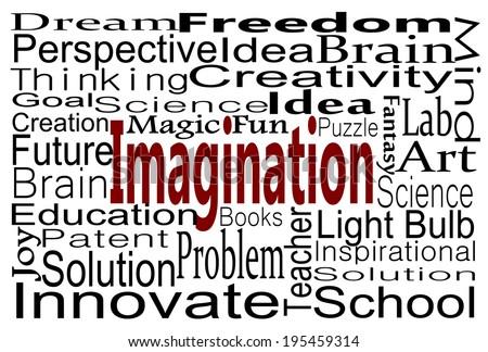 Imagination Word Cloud - stock photo