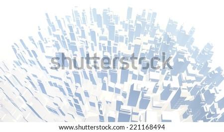 Imaginative city - stock photo