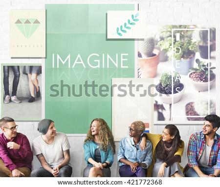Imagine Creativity Imagination Thinking Concept - stock photo
