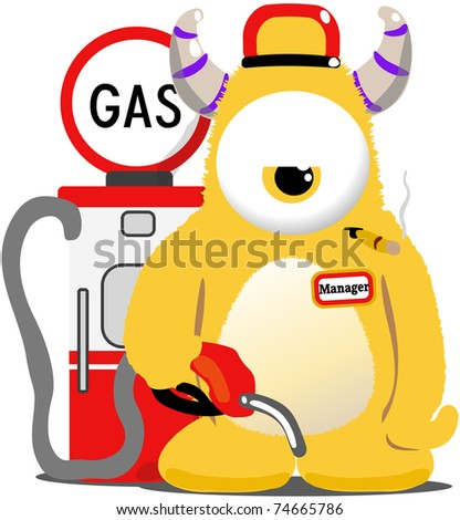 Imagine getting this guy at the gas station... - stock photo