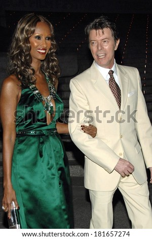 Iman,David Bowie at 6th Annual Tribeca Film Festival Vanity Fair Party, New York State Supreme Courthouse, New York, NY, April 24, 2007 - stock photo