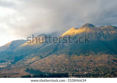 Imbabura inactive stratovolcano in northern Ecuador - stock photo