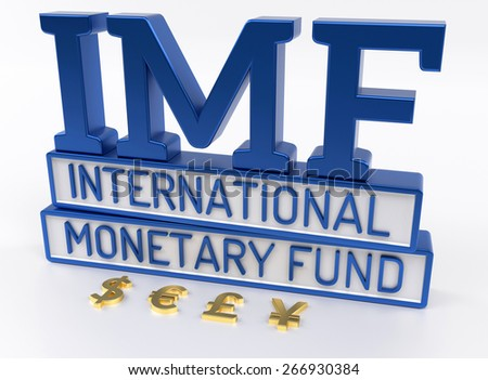 IMF - International Monetary Fund, World Bank - 3D Render - stock photo