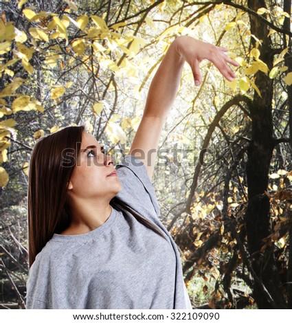 Imitating trees. - stock photo