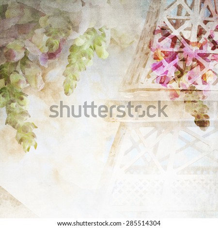 Imitation of the watercolor painting background