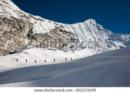 Imja Tse or Island peak climbing, Everest region, Nepal. - stock photo