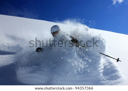 Immersed in powder - stock photo