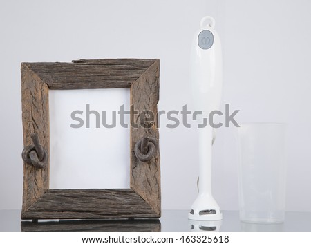 Immersion blender and picture frame