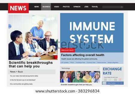 Immune System Healthcare Disease Antibody Concept - stock photo