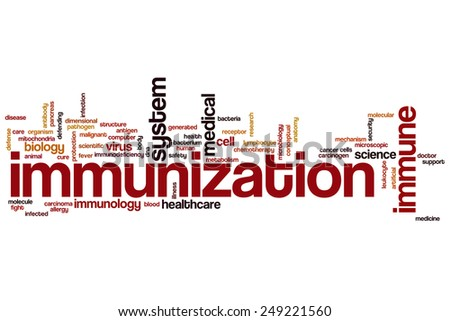 Immunization word cloud concept - stock photo