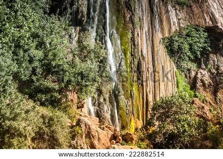 Imouzzer Cascades at summer - Waterfall near Agadir, Morocco - stock photo