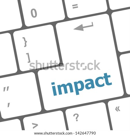 impact button on keyboard - business concept, raster - stock photo