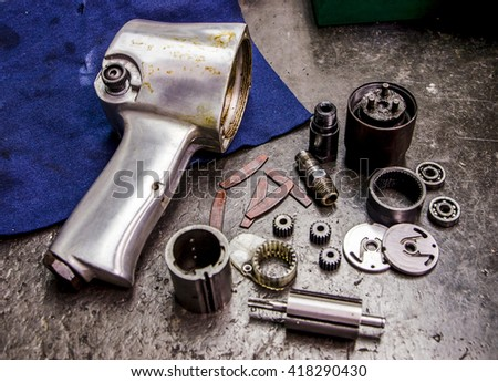 impact wrench - stock photo