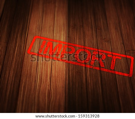Import - stock photo