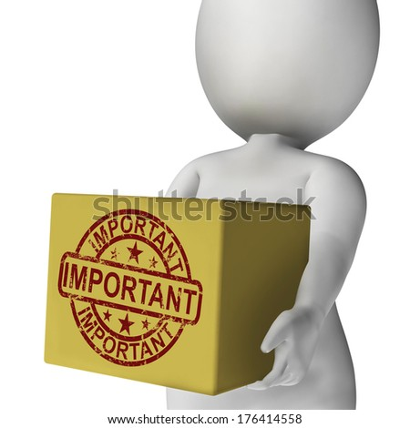 Important Box Showing Significant And High Priority Product Delivery - stock photo