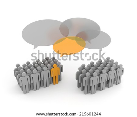 Important Opinions. Exchange of opinions - stock photo