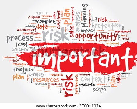 Important word cloud, business concept - stock photo