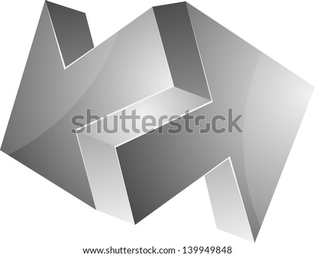 Impossible arrows - stock photo