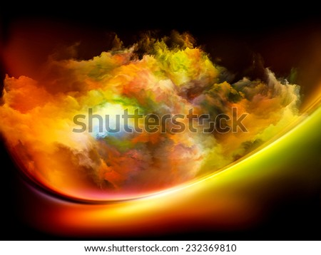 Impossible Dawn series. Backdrop of colors and gradients on the subject of art, creativity, imagination and design - stock photo