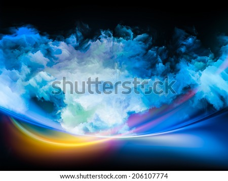 Impossible Dawn series. Creative arrangement of colors and gradients as a concept metaphor on subject of art, creativity, imagination and design - stock photo