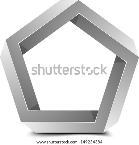 Impossible Pentagone - stock photo