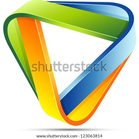 Impossible triangle sign - stock photo