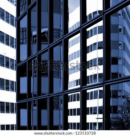 Impression of a gigantic facade - stock photo