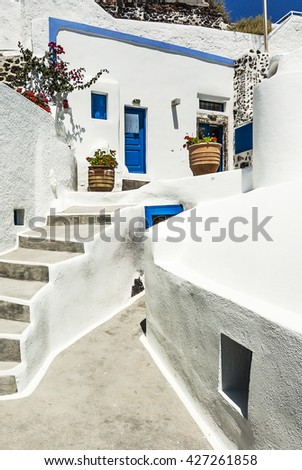 Impression of the beautiful town of santorin, greece, europe